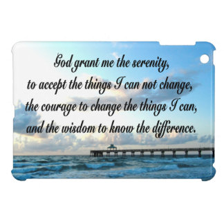 LOVELY SERENITY PRAYER OCEAN AND WAVES PHOTO iPad MINI CASES