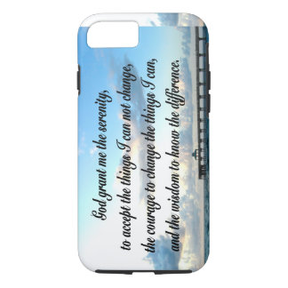 LOVELY SERENITY PRAYER OCEAN AND WAVES PHOTO iPhone 7 CASE