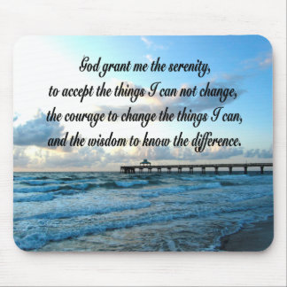 LOVELY SERENITY PRAYER OCEAN AND WAVES PHOTO MOUSE PAD