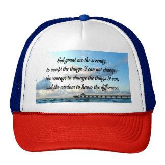 LOVELY SERENITY PRAYER OCEAN AND WAVES PHOTO TRUCKER HAT