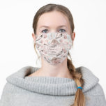 Lovely Shabby Chic Pink Christmas Pattern Adult Cloth Face Mask