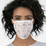 Lovely Shabby Chic Pink Christmas Pattern Face Mask