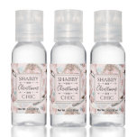 Lovely Shabby Chic Pink Christmas Pattern Hand Sanitizer