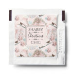 Lovely Shabby Chic Pink Christmas Pattern Hand Sanitizer Packet