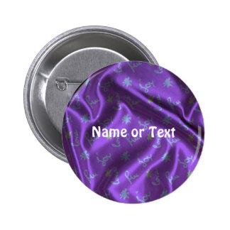 Lovely Silk purple 2 Inch Round Button