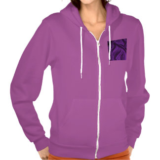 Lovely Silk purple Hooded Pullover