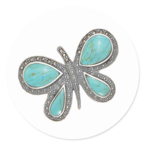 Lovely silver butterfly Wedding Stickers sticker