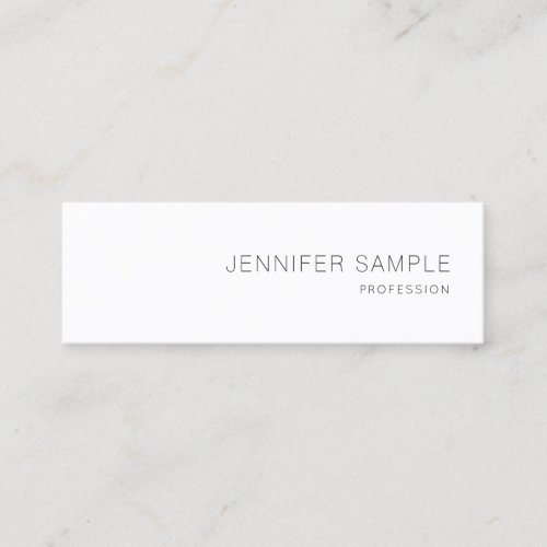 Lovely Simple Design Professional Plain Elegant Mini Business Card