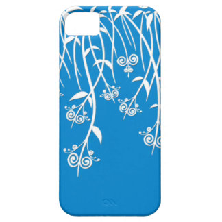 Lovely Sky Blue and White Floral Cases and Covers