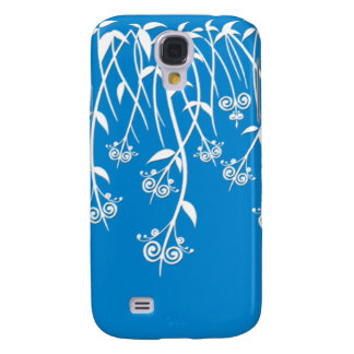 Lovely Sky Blue and White Floral Cases and Covers Galaxy S4 Case