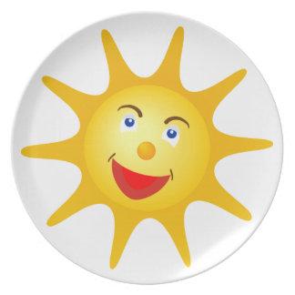 Lovely smiling face plate