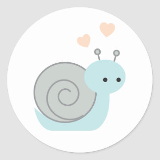 Lovely Snail Classic Round Sticker