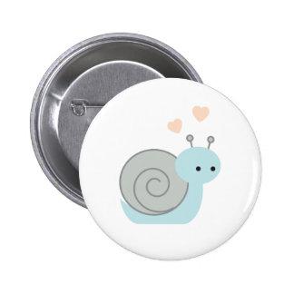 Lovely Snail Pinback Button