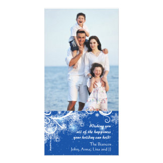 Lovely Snow Holiday Photo Card