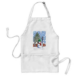 Lovely snow  puppet by Albruno Adult Apron