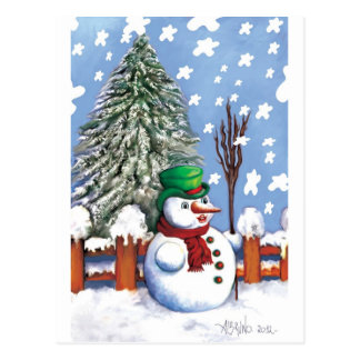 Lovely snow  puppet by Albruno Postcard