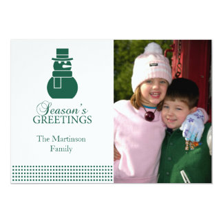 Lovely Snowman Christmas Card (Evergreen)