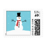 Lovely Snowman Christmas Postage Postage Stamp