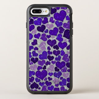 Lovely sparkling hearts OtterBox symmetry iPhone 7 plus case