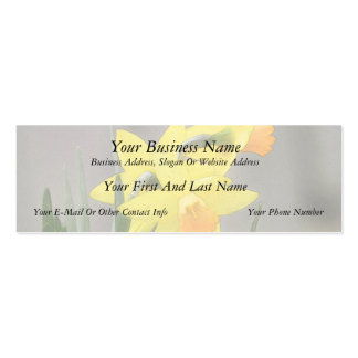 Lovely Spring Daffodils Double-Sided Mini Business Cards (Pack Of 20)