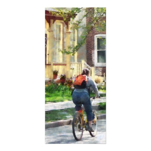 Lovely Spring Day for a Ride Personalized Rack Card