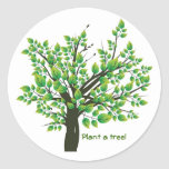 Lovely Spring tree Round Stickers
