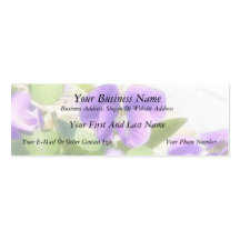 Lovely Spring Violet Double-Sided Mini Business Cards (Pack Of 20)