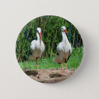 Lovely Stork Button