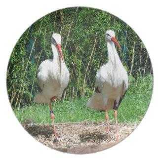 Lovely Stork Dinner Plate