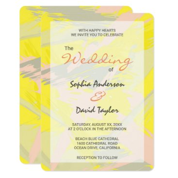 Beach Themed Lovely Summer Abstract Wedding Card