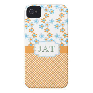 Lovely summer fun flowering yellow and blue iPhone 4 cover