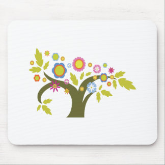 lovely summer tree vector mouse pad