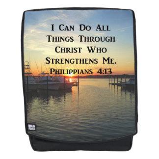 LOVELY SUNSET PHILIPPIANS 4:13 BACKPACK