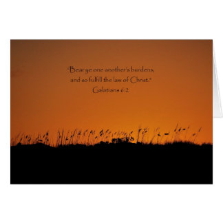 Lovely Sunset Scripture Thank You for Support Card