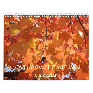 LOVELY SWEET AUTUMN Calendar Holiday Gifts Grandma