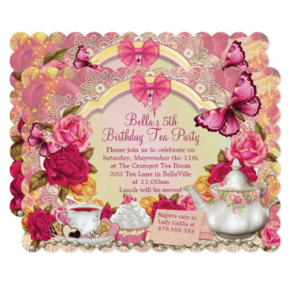 Lovely Tea Party Invitations