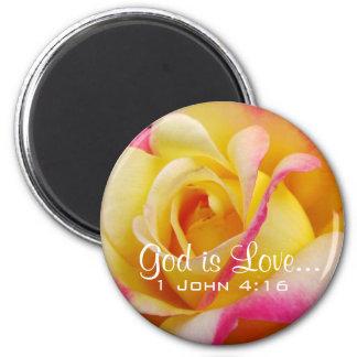 Lovely Tea Rose Christian Magnet