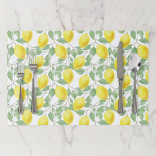 cd2c8a6a5 Lovely Tearaway Placemat with Lemons Print