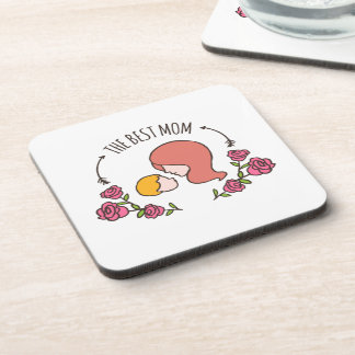Lovely The Best Mom Mother's Day   Coaster