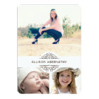 Lovely Then and Now Photo Graduation Party Card