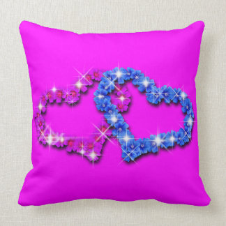 Lovely Throw Pillow In Hearts Design