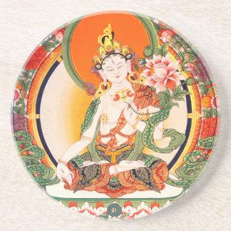 Lovely Tibetan Buddhist Art Beverage Coasters