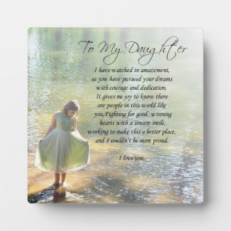 """Lovely """"To My Daughter"""" Gift Plaque"""