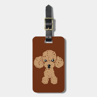Lovely toy poodle bag tag