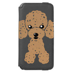 Incipio Watson™ iPhone 6 Wallet Case with Poodle Phone Cases design