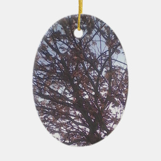 Lovely tree and a beautiful blue sky. ceramic ornament