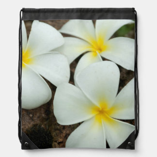Lovely Tropical Blossoms In The South Pacific Drawstring Backpack