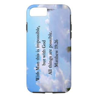 LOVELY TROPICAL MATTHEW 19:26 PHOTO DESIGN iPhone 7 CASE