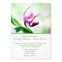 Lovely Tulip Watercolor Custom Wedding Invitation
