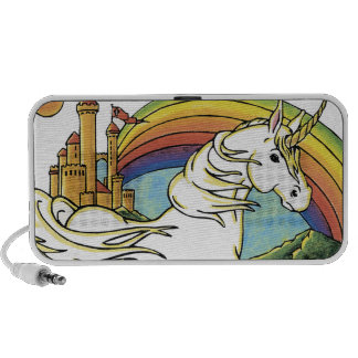 lovely unicorn fantasy art mp3 speaker